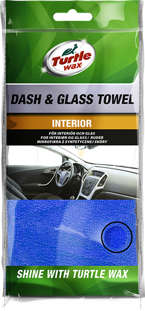Turtle Wax Dash & Glass Towel Blå  40x40cm